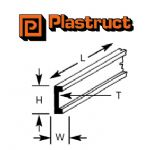 Plastruct C-8P  C-8P - 6.4mm CHANNEL (4 pieces)